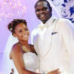 Zach Randolph with his wife Faune Drake