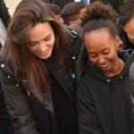 Angelina Jole with adopted daughter Zahara Marley