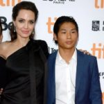 Angelina Jolie with adopted son Pax Thien