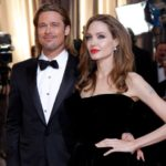 Angelina Jolie with ex-husband Brad Pitt image