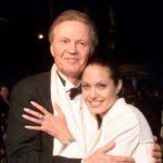 Angelina Jolie with father Jon Voight
