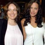 Angelina Jolie with mother Marcheline Bertrand