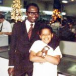 Barack Obama with father Barack Obama Sr.