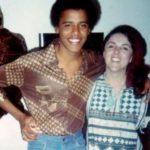 Barack Obama with mother Ann Dunham