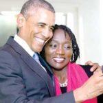 Barack Obama with sister Auma Obama