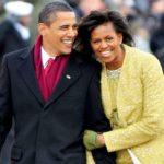 Barack Obama with wife Michelle Obama