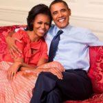 Barack Obama with wife Michelle Obama image