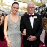 Daisy Ridley with her father Chris Ridley