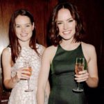 Daisy Ridley with her sister Kika-Rose Ridley enjoying