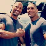 Dwayne Johnson with his brother Curtis Bowles
