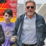 Harrison Ford with his son Liam Flockhart