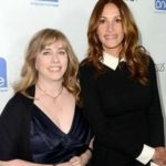 Juliet Roberts with sister Lisa Roberts Gillan