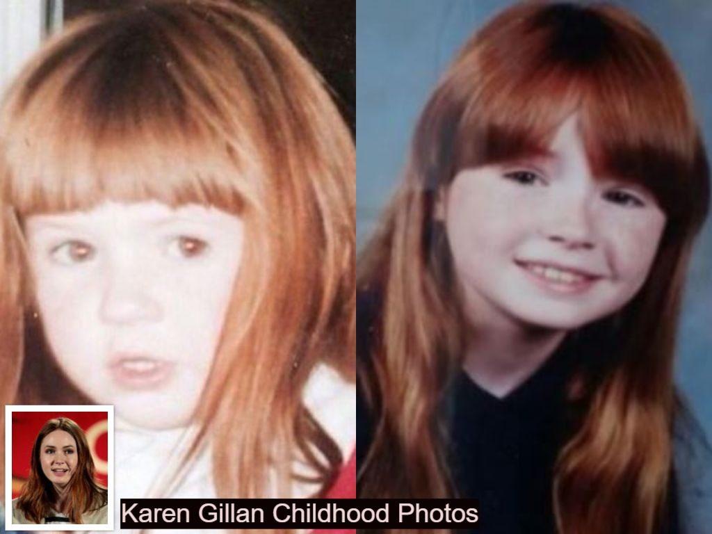 Karen Gillan Childhood photos collection
