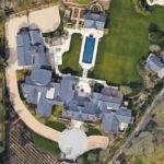 Kim Kardashian and Kanye West house upside view