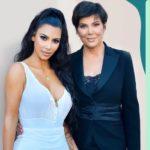 Kim Kardashian with mother Kris Jenner
