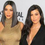 Kim Kardashian with older sister Kourtney Kardashian