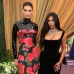 Kim Kardashian with younger half-sister Kendall Jenner