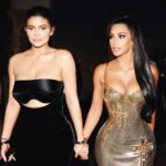 Kim Kardashian with younger half sister Kylie Jenner