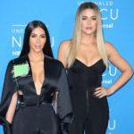 Kim Kardashian with younger sister Khloe Kardashian