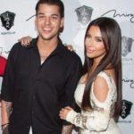 Kim kardashian with brother Rob Kardashian