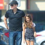 Matt Damon with daughter Isabella Damon