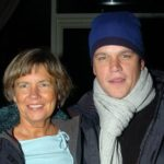 Matt Damon with mother Nancy Carlsson-Paige