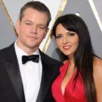 Matt Damon with wife Luciana Barroso image