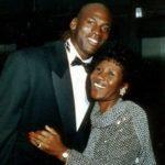 Michael Jordan with mother Deloris Peoples