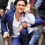 Orlando Bloom with his son Flynn Christopher Bloom