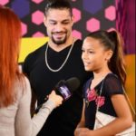 Roman Reigns with his daughter Joelle Anao'i