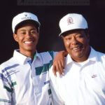 Tiger Woods with his father in young age