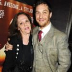 Tom Hardy with his mother Elizabeth Anne Hardy