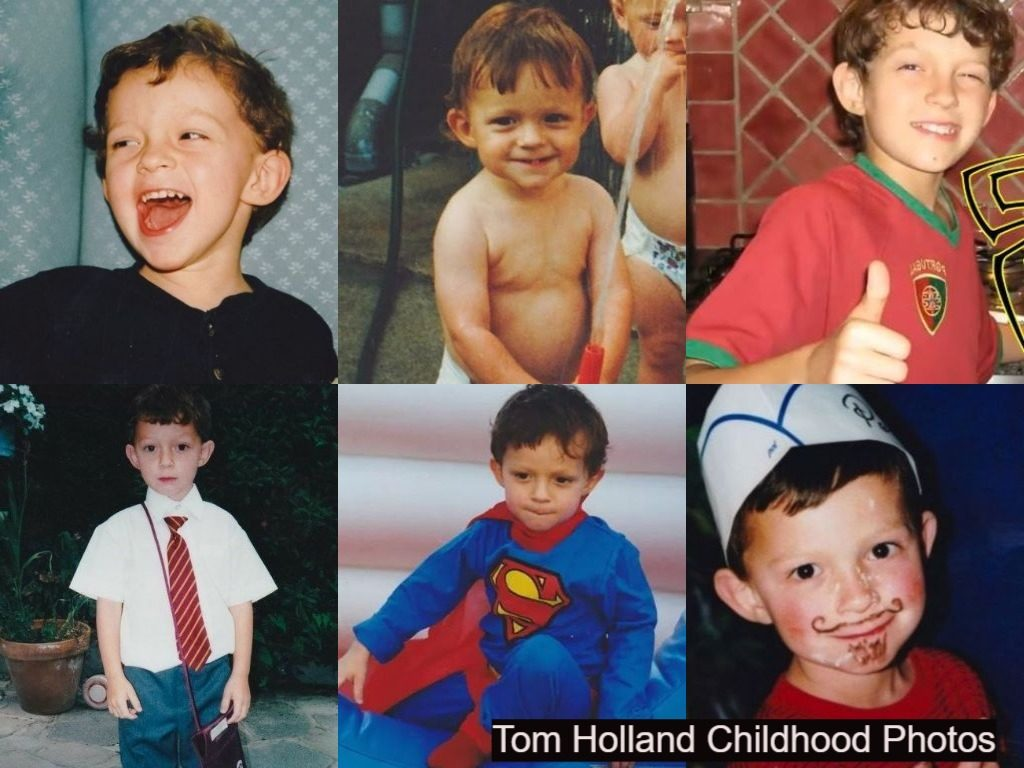 Tom Holland Childhood photos collection