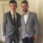 Asa Butterfield with father Sam Butterfield