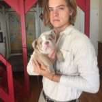 Dylan Sprouse with his puppy