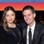 Evan Spiegel with wife Miranda Kerr image