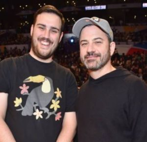 Jimmy Kimmel With Son Kevin Kimmel Celebrities Infoseemedia A native of arizona, kevin is the son of actor, comedian, tv host and television personality jimmy kimmel and his first wife. jimmy kimmel with son kevin kimmel