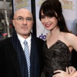 Lily Collins with father Phil Collins