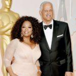Oprah Winfrey with partner Stedman Graham