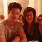 Ross Butler with his mother image