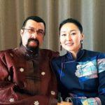 Steven Seagal with wife Erdenetuya Batsukh