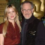 Steven Spielberg with daughter Jessica Capshaw