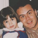 Camila Mendes childhood photo with father Victor Mendes