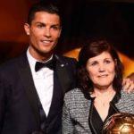 Cristiano Ronaldo with mother Maria Dolores dos Santos Aveiro