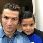 Cristiano Ronaldo with son Cristiano Ronaldo Jr
