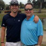 Dustin Johnson with father Scott Johnson
