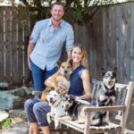 Max Scherzer with his wife and 4 pets