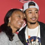 Mookie Betts with mother Diana Benedict