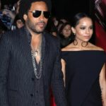 Zoe Kravitz with father Lenny Kravitz