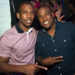 Chris Paul with brother C J Paul